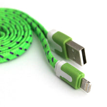 1 Metre Braided Fabric 8Pin USB Flat Charger Cable For Apple iPhone 5/5S/6 iOS 9