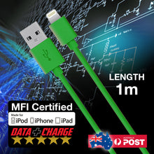 MFI Lightning 1 Metre Cable Charge Data Sync For Apple IPhone 5/6/7/7+ IPad