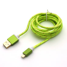 Metallic 1.5 Metre iPhone 5 5S 5C 6 Plus iPad 4 Braided Charger Cable Cord