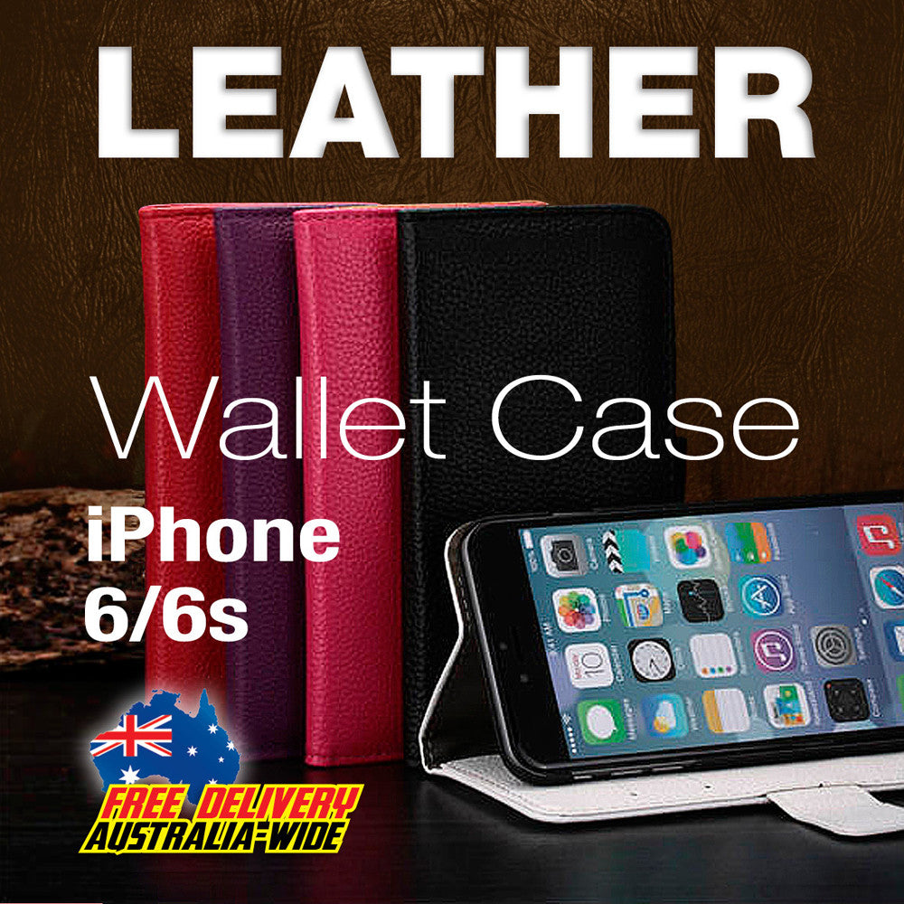 Quality Leather iPhone 6/6s Case Wallet Flip Cover with Stand