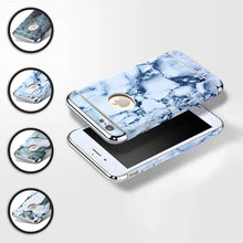 Marble Design Effect With Chrome Accent Case Cover Protection For iPhone 6/6S