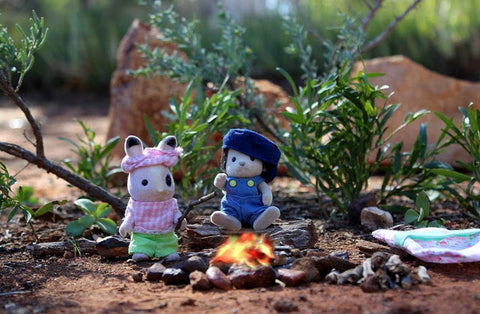 Sylvanian Families Camping in the outback