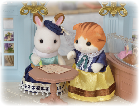 Sylvanian Families Gelato shop menu at table Town Series