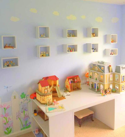 Sylvanian FAmilies Shadow Box shelves storage idea