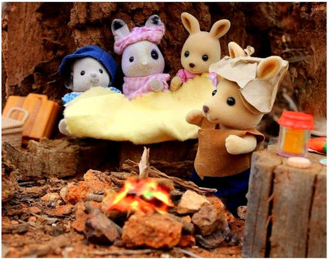 Sylvanian Families Campfire in the outback man from Snowy River