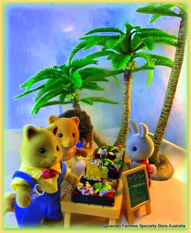 Sylvanian Families Figures Beach party tropical Coconut palm tree Collecta