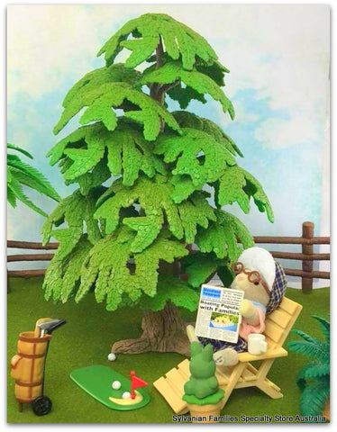 Sylvanian Families Grandpa Golfer and Collecta tree