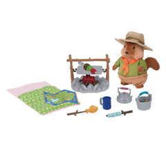 L'il Woodzeez Camping set with figure