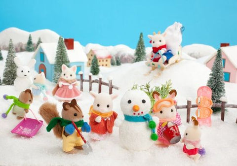 Sylvanian Familes winter scenery