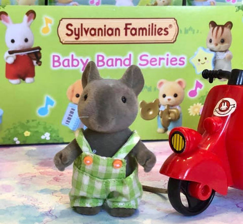 Sylvanian FAmilies Baby Band Ratty Rat Scooter