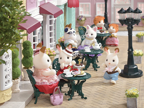 Sylvanian Families elegant Tea on the Terrace Town Series