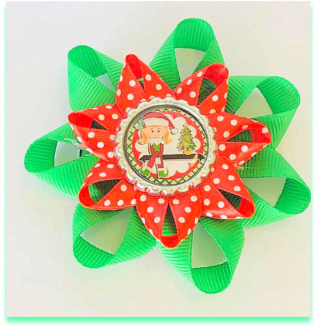 Christmas Elf accessories hair clips