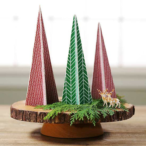 DIY craft paper Christmas trees