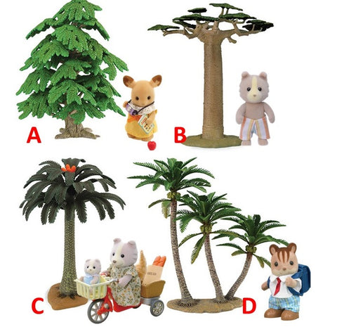 Sylvanian Families scene setting items trees plants etc