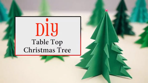 DIY table decor Christmas trees