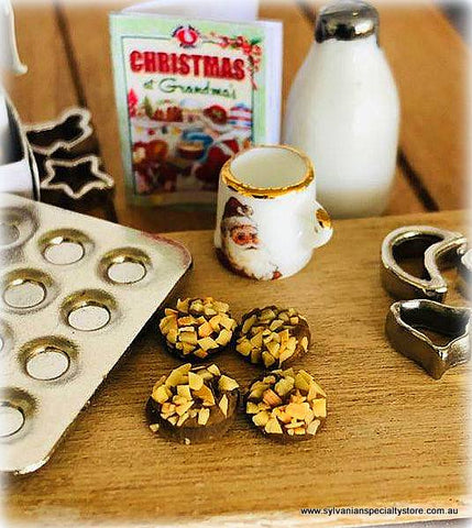 Dollhouse miniature coffee and treats biscuits