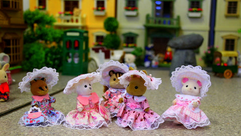 Sylvanian Families gorgeous dress costumes