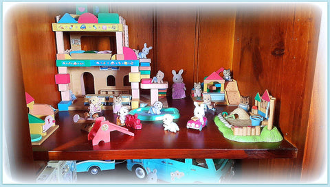 Sylvanian Families collection on shelves Werris creek