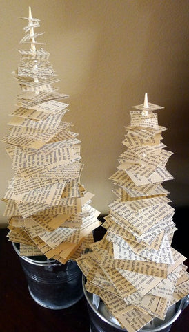 Christmas tree funny made of bills