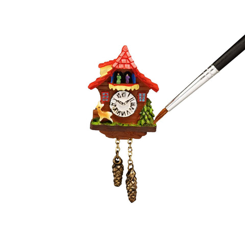 Miniature dollhouse Black Forest Cuckoo clock