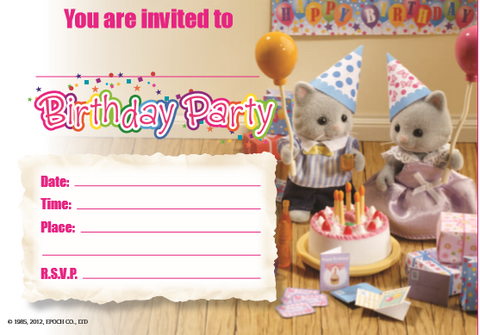 Birthday Cake and Party Party Theme Two Different Sylvanian Families Sets