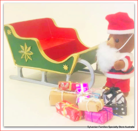 Dollshouse festive sleigh Christmas time
