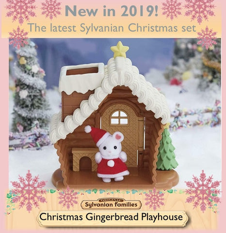 Sylvanian FAmilies Gingerbread playhouse Christmas set
