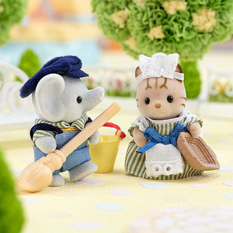 Sylvanian Families Baby Costume Working Babies Elephant and Cat
