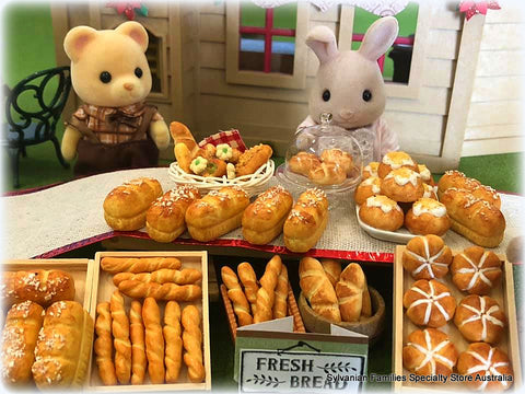 Sylvanian FAmilies bread market stall loaves