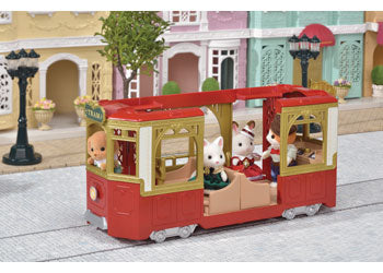 Sylvanian Families red tram
