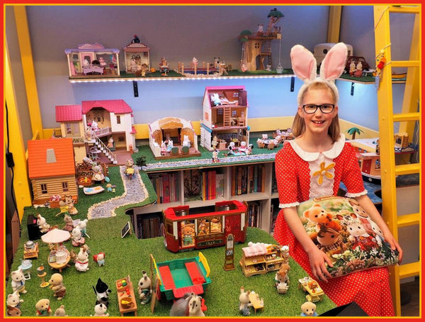 Sylvanian Families display set up Australia's young super fan Cate