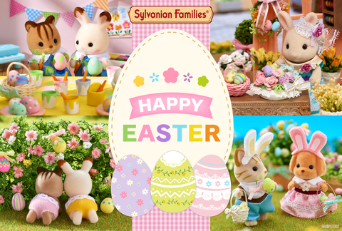 Sylvanian Families Easter time cards