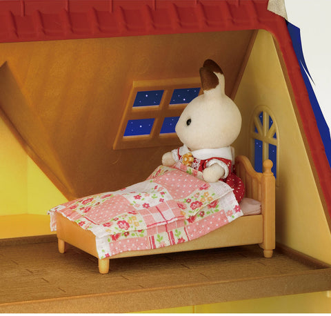 Sylvanian Families Freya in bed