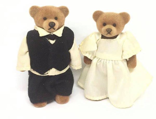 Sylvanian Families similar McDonalds bear bridal couple vintage