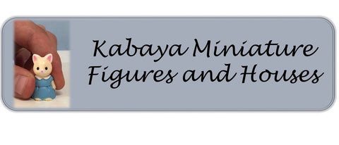 Sylvanian Families miniature kabaya sets and mini rooms Japanese