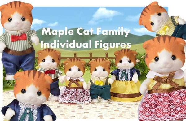 Sylvanian Families Individual Figures Maple Cats