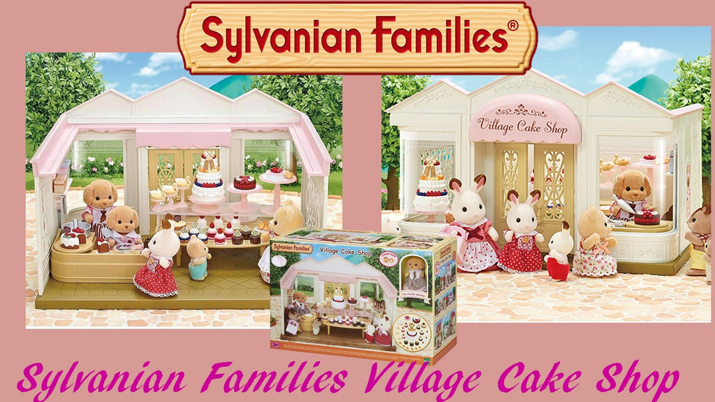 Sylvanian Families Village Cake Shop with figure