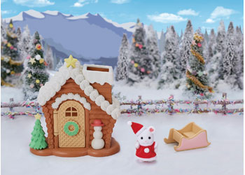 Sylvanian Families Christmas set sledge and toboggan Gingerbread