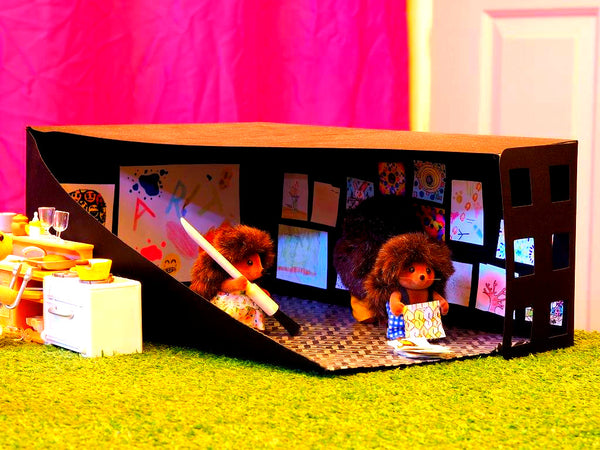 Sylvanian Families Art Gallery hand made