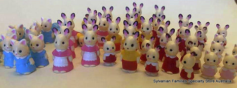 Sylvanian Families army of mini figures
