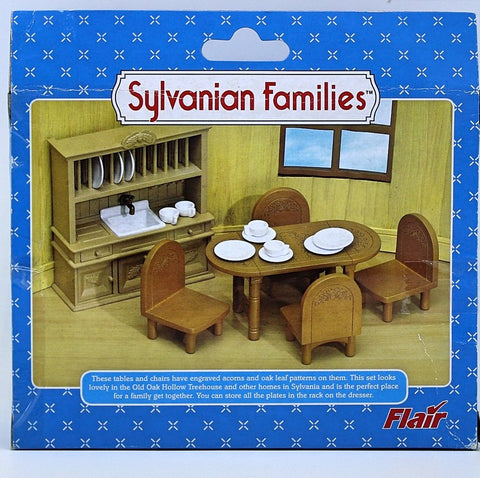 Syvlanian FAmilies Old Oak Hollow dining table