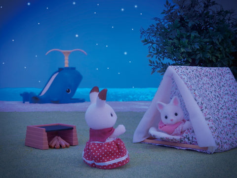 Sylvanian Families night time camping