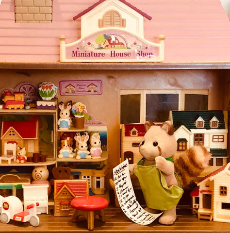 Sylvanian Families Toymaker Miniature house shop stocktake day