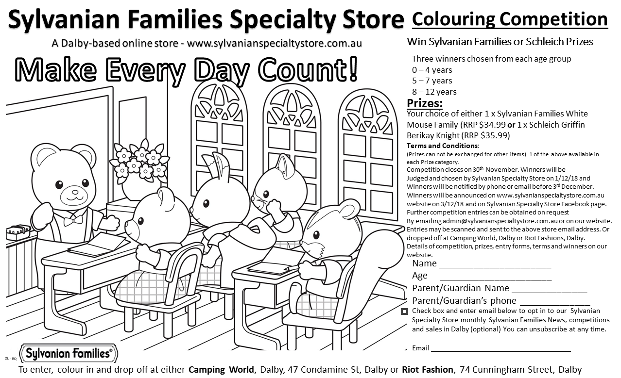 Sylvanian Families Colouring Competition