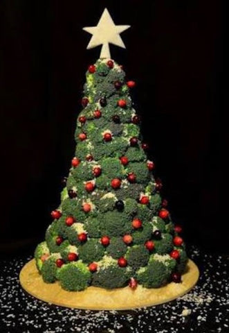 Christmas tree made of broccoli