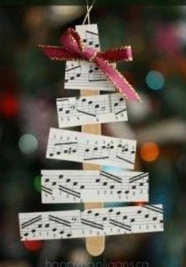 DIY christmas tree music theme