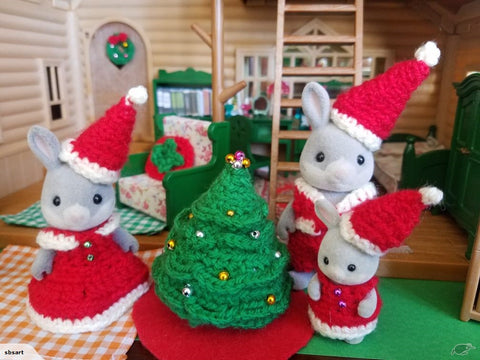 Sylvanian Families Christmas Themed items