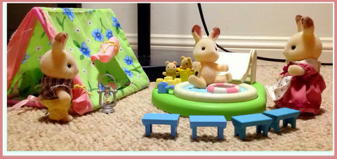 Sylvanian FAmilies Camping Scene