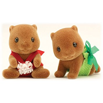 Sylvanian Families Beaver twin baby twins