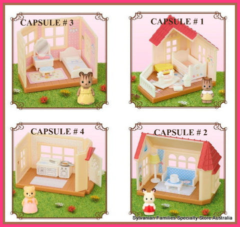 Sylvanian Families Complete capsule sets of Big Red  House miniature sets 2017